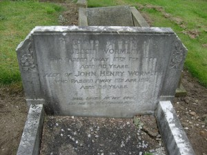 John Henry and Jessie Wormley's grave in Conisbrough cemetery.